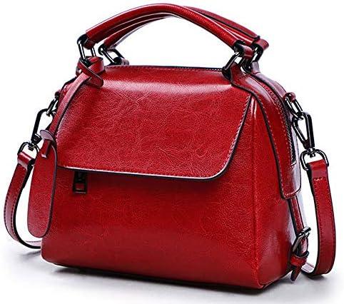 バッグ - 2層牛革/ファブリック、ファッションスタイルパンクレディースハンドバッグ、ショルダーバッグ/ショルダーバッグ、大容量/ソフト/ウェアラブル(20x13x18cm) よくできた