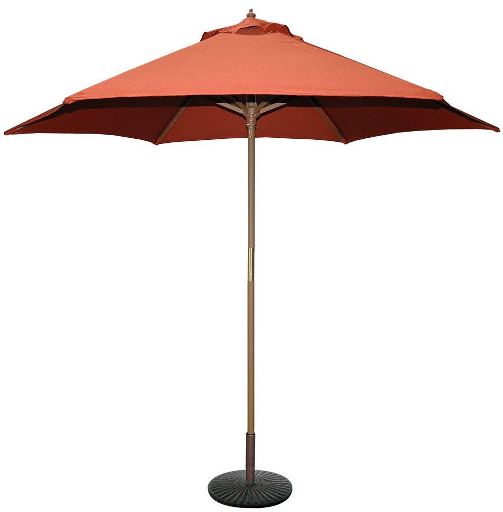 Amazon.com : TropiShade 9 Ft Wood Market Umbrella With Beige Polyester  Cover : Patio Umbrellas : Garden U0026 Outdoor