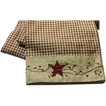hearts and stars kitchen collection amazon com linda spivey country bath decor primitive hearts and stars primitive plaid checkered 2523