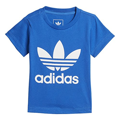 adidas Originals Baby Boys Originals Trefoil Tee, Blue/White/Infant 4T -