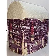 Purple Wine Kitchenaid Lift Bowl Stand Mixer Cover (Cream)