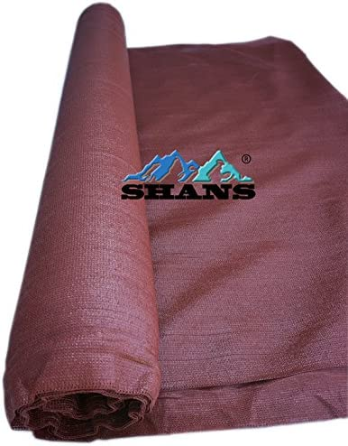 SHANS Maroon 90 UV Shade Cloth with Clips Free Maroon 12ft x 100ft