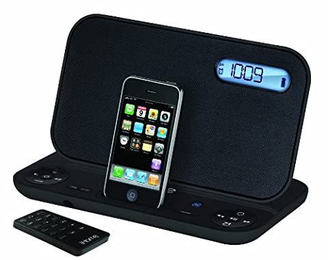 iHome iP45 Portable Stereo with Rechargeable Alarm Clock, FM Radio, and Dock for iPod/iPhone (Ipod Dock With Clock)