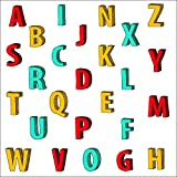 PARLAIM 5 Inch Alphabet Wall Stickers(2 Sheets complete Alphabet packing),Alphabet ABC Wall Decals Stickers for Kids Baby Nursery Room