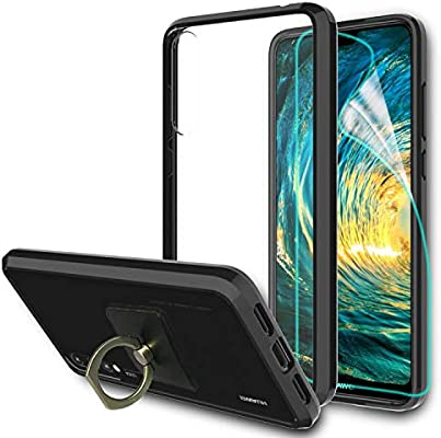 Huawei P20 Pro Case Cover, Clear Back Panel, with Ring Grip