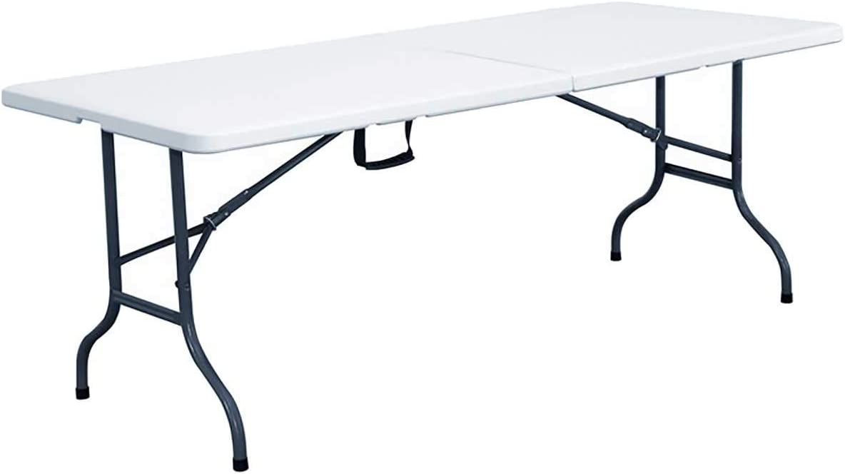 Rekkem Table Pliante Blanche 244 X 76 X 74 Cm Blanc Amazon Fr Jardin