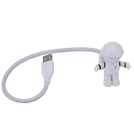 Pinzhi flexible astronauta LED USB Light Mini luz nocturna para Laptop PC Ordenador Portatil Lectura