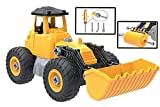 Kidwerkz Toy Truck Bulldozer, STEM Learning (55 pieces), Construction Vehicle, Take Apart Tools, Engineering Building Play Set For Boys Girls Toddlers, Best Gift Kids Ages 3yr – 6yr, 3 Years and Up