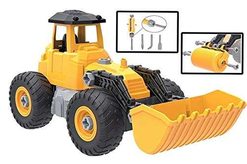 Kidwerkz Toy Truck Bulldozer, STEM Learning (55 pieces), Construction Vehicle, Take Apart Tools, Engineering Building Play Set For Boys Girls Toddlers, Best Gift Kids Ages 3yr – 6yr, 3 Years and (Cat Skeleton For Sale)