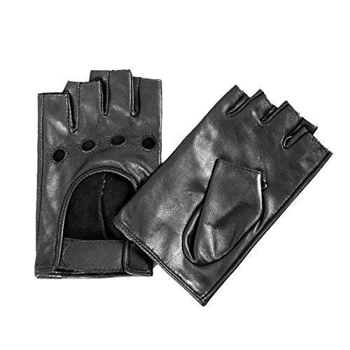 探検シャンプースーダンMatsuレディースLady 's指なしレザー裏地なし手袋with Velcro m9417