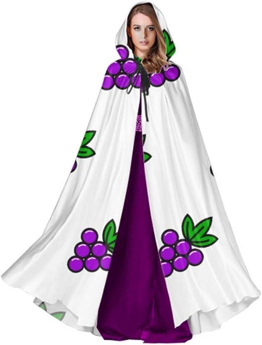 LONGYUU Capa con Capucha de Fruta amarga de UVA púrpura para niñas ...