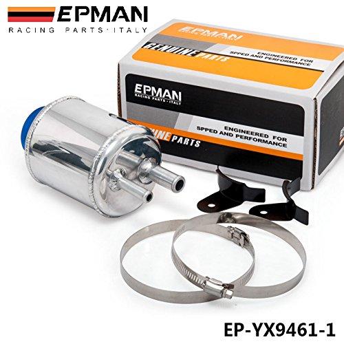EPMAN JDM Aluminum Racing Power Steering Fluid Reservoir Tank Clamps (Aluminum Power Steering Tank)