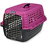 Petmate 41038 Compass Fashion Pets Kennel with Chrome Door, Hot Pink/Black