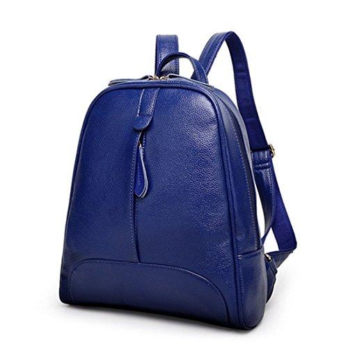 OASD - Mochila piel sintética de estilo informal para mujer  , marrón (marrón) - G72096E Azul