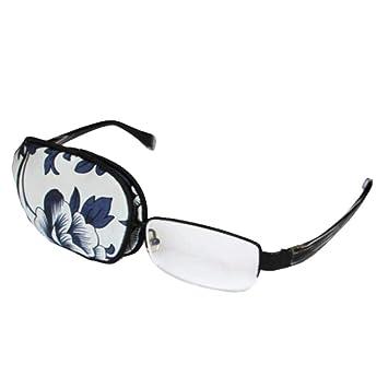 bdb710639e16 Amazon.com : Adult Silk Glasses Eye Mask Amblyopia Strabismus Lazy Eye  Patches-Flower A : Beauty