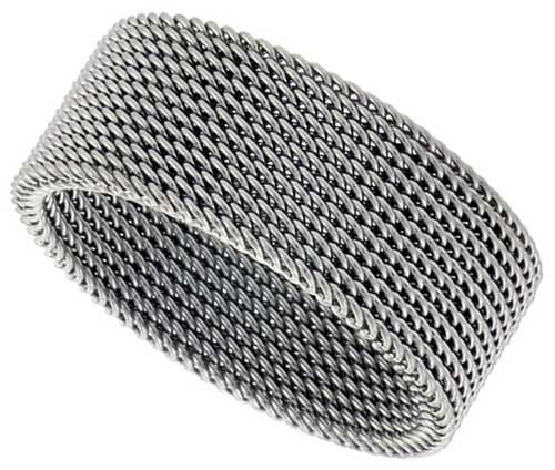 43e22a70a Amazon.com: 316l 8mm Stainless Steel Flexible Mesh Woven Screen Ring ...
