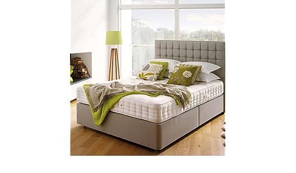 Soak&Sleep Ultimate Hypnos con Cachemira colchón, Beige, Double (135cm x 190cm): Amazon.es: Hogar