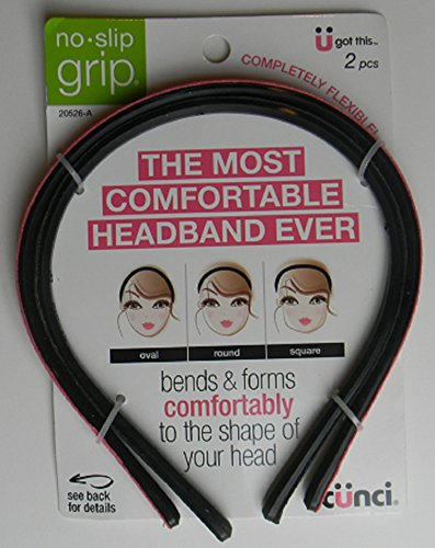 Scunci No-Slip Grip Bends & Forms Comfortable Headband, Pink and Black, 1 Pound