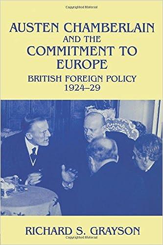austen chamberlain and the commitment to europe grayson richard s grayson dr richard s