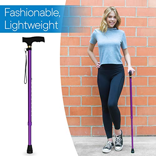 RMS Walking Cane - Adjustable Walking Stick - Lightweight Aluminum Offset Cane with Ergonomic Handle - http://coolthings.us