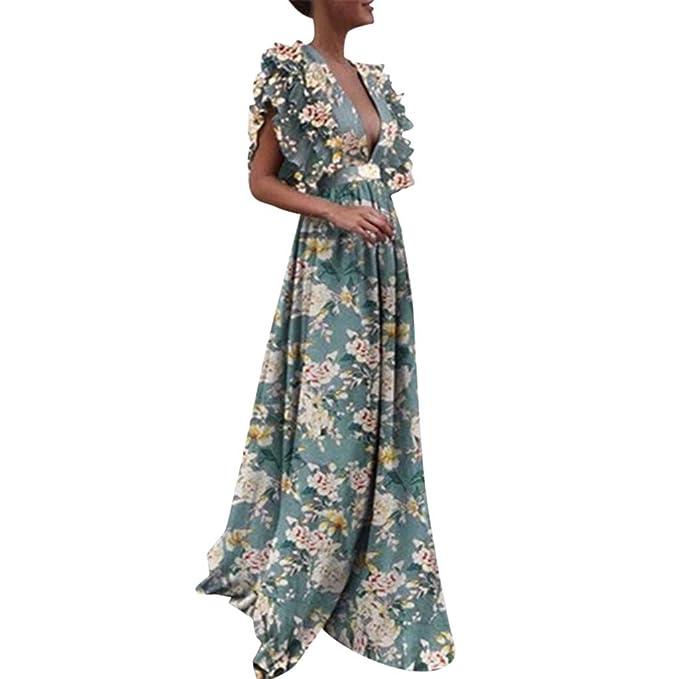 on sale eb328 e35ca Worsworthy Vestito Lunghi Estivi Vestiti alla Moda Donna ...