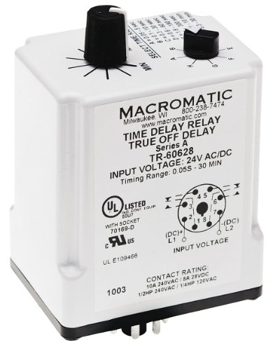 Amazon Com Time Delay Relay 24vacdc 10a Dpdt Industrial
