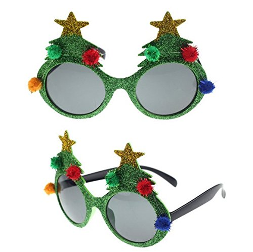LLTrader Christmas Party Props Christmas Tree Design Decoration Party - Christmas Eyeglasses