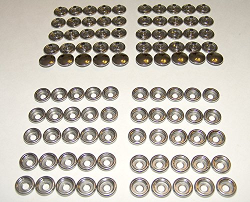 50 Piece Socket Set (Snap Fastener's, Stainless Steel, Marine Grade, Cap & Socket, 50 Sets)