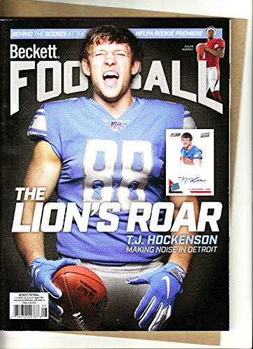 Cover Football Beckett (BECKETT FOOTBALL PRICE GUIDE-AUGUST 2019 T.J. HOCKENSON COVER-343-PAPERBACK-32-8)
