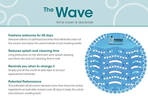 Urinal Screen Deodorizer (10 PACK) - Scent Lasts for Up to 5000 Flushes – Anti-Splash & Odor Neutralizer – Ideal for Bathrooms, Restrooms, Office, Restaurants, Schools – Ocean Mist Fragrance by Fresh Urinal Screens (Image #6)