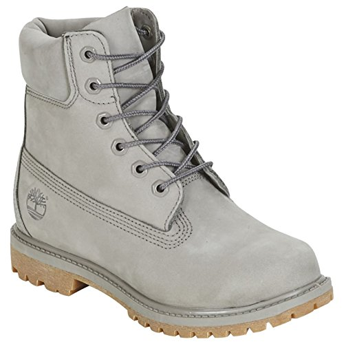 Timberland Womens Premium 6 Inch Ankle Boot Grey Waterproof Leather Size 4