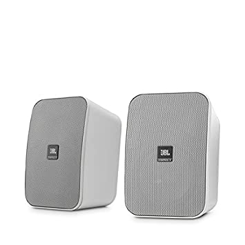 jbl in wall speakers. jbl control x monitor bookshelf speaker system with included wall mount brackets - white (pack jbl in speakers e