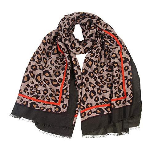 c53b487bcde95 Zolimx Frauen Damen Leopard Print Schal Wrap Tücher Stirnband Weichen Schal  Langen Schal  Amazon.de  Küche   Haushalt