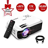 2018 Newest GooBang Doo ABOX T22 2400 Lumens Mini Portable Projector,1080p HD Multimedia - Best Reviews Guide