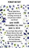 Memorial Funeral Forget-Me-Not Seed Packets
