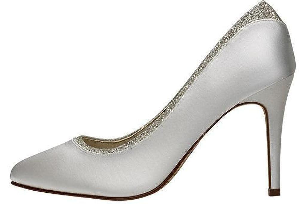 Rainbow Club Billie Chaussures de mari/ée en satin couleur ivoire et paillettes fines