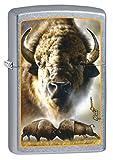 Zippo Custom Lighter: Mazzi Buffalo Fight - Street Chrome 78885
