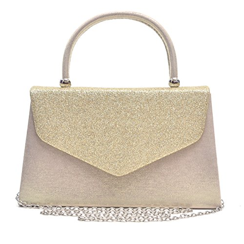 Dasein Women's Evening Bags Formal Party Clutches Wedding Purses Cocktail Prom Handbags with Frosted Glittering (Gold) by Dasein