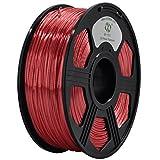 YOYI Silk Like Polymer Composite Red 1KG 1.75mm Polymer 3D Printer Filament, Diameter Tolerance +/- 0.05 mm, 1 KG Spool, 1.75 mm, Silk Like Filament,RED