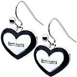Tutti Frutti Black White Puffed Heart Earrings