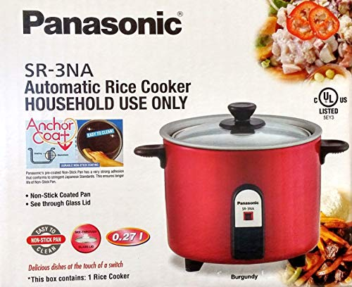 Panasonic Automatic 1.5 Cup (Uncooked)/3 Cups (Cooked) Rice Cooker (RED)