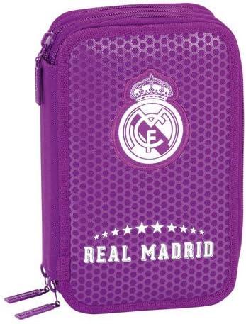 Real Madrid - Plumier Triple 41 Piezas, 2ª equipacion Temporada 2016/2017 (SAFTA 411677057): Amazon.es: Juguetes y juegos
