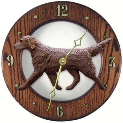 Michael Park Liver Flat Coated Retriever Wall Clock