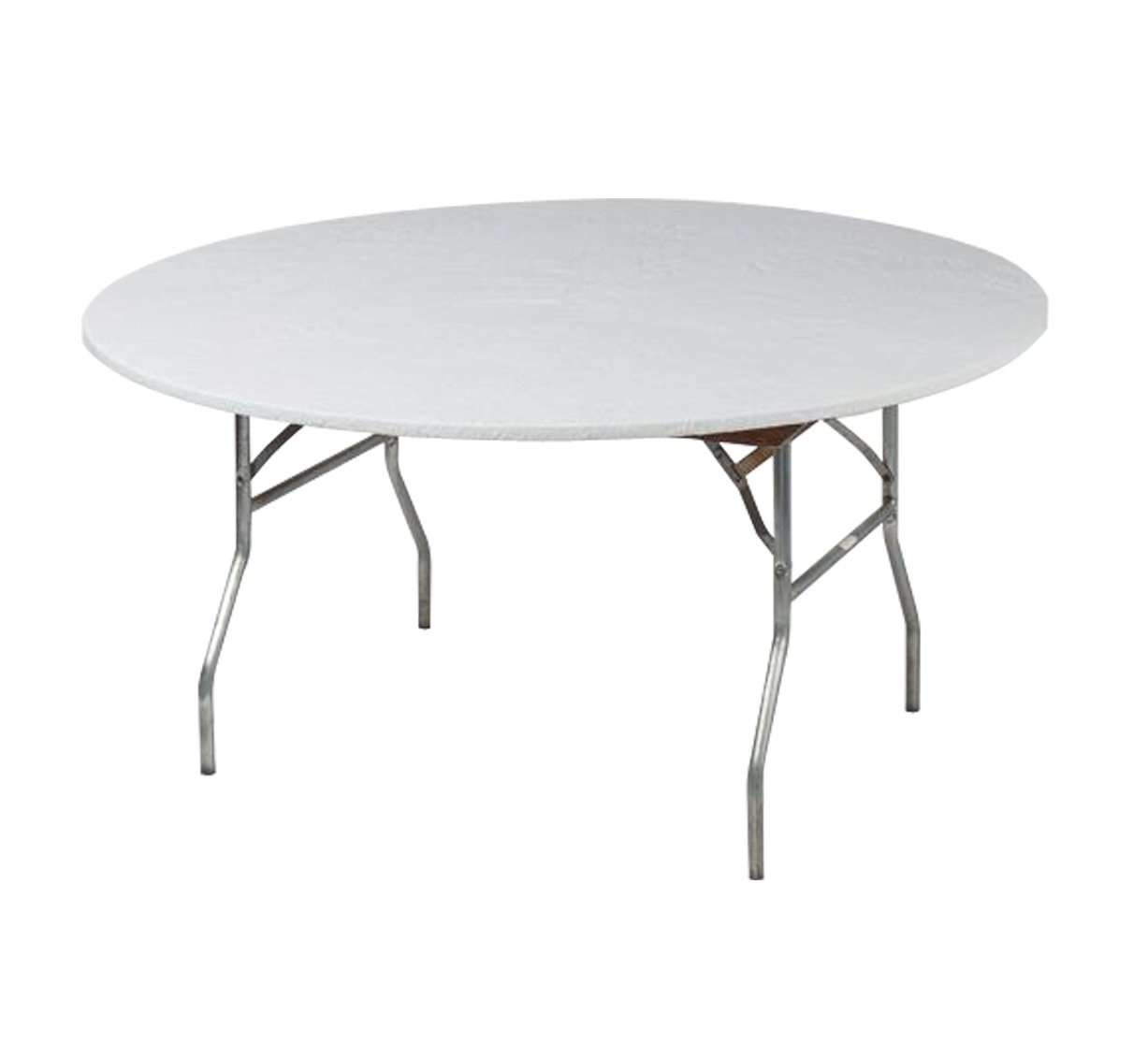 """Kwik Covers 60"""" Round White Fitted Table Cover - Single"""