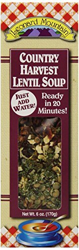 (Leonard Mountain Country Harvest Lentil Soup, 6-Ounce. Boxes (Pack of 4) by Leonard Mountain)