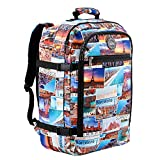 Cabin Max Backpack Flight Approved Carry On Bag Massive 44 Litre Travel Hand Luggage 55x40x20 cm (Photo Postcards)