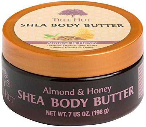 Tree Hut Shea Body Butter, Almond & Honey 7 oz (Pack of - 4 Hut