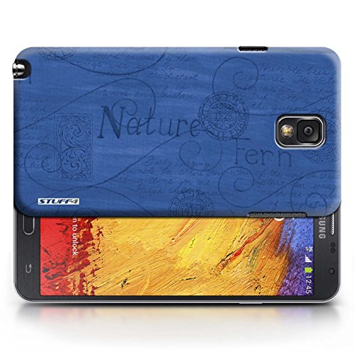 Etui / Coque pour Samsung Galaxy Note 3 / Bleu conception / Collection de Motif Nature