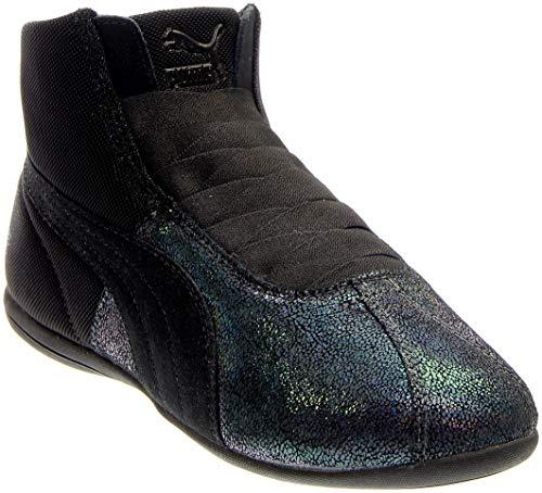 (PUMA Women's Eskiva Mid Deep Summer Black Sneaker 5.5 B (M))