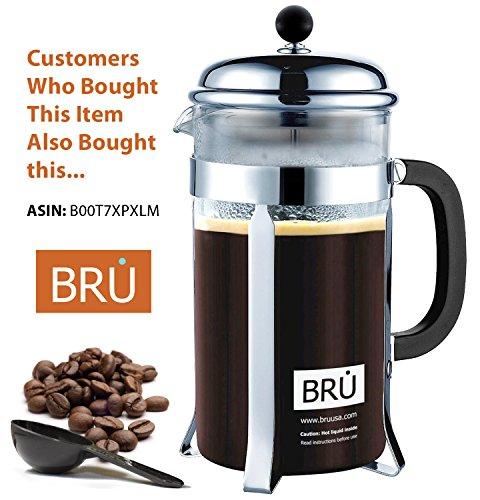 Pour Over Coffee Kettle ~ BRU USA Premium Gooseneck Stainless Steel Drip Pot for Coffee & Tea, 1 ...